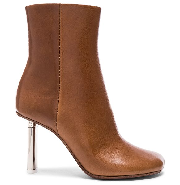 VETEMENTS Leather Toe Ankle Boots in brown