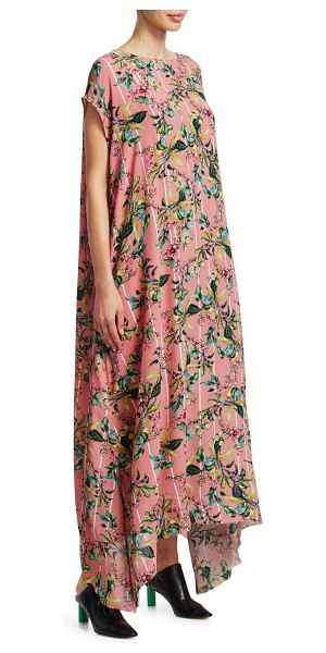 VETEMENTS summer floral maxi dress in black-blush