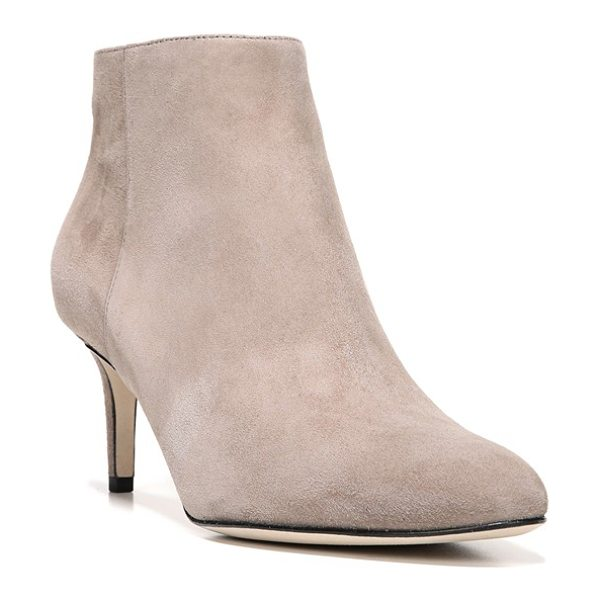 Via Spiga aurora bootie in taupe - A demure kitten heel and Italian leather or suede give...