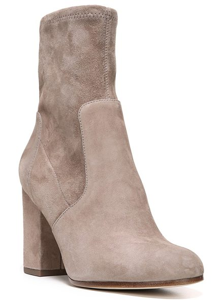 VIA SPIGA 'britta' boot in dark taupe suede - A classic rounded toe and a slimline profile define a...