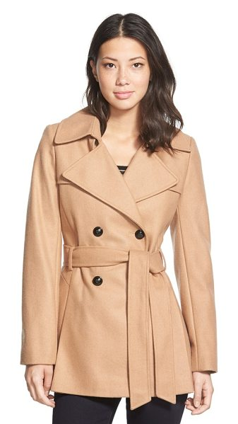Via Spiga double breasted wool blend trench coat in deep camel - A cozy wool blend resets a classic trench for the cool,...