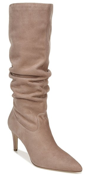 Via Spiga Garance To-The-Knee Scrunch Boots in light pink