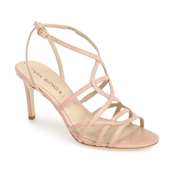 VIA SPIGA ima2 leather ankle strap sandal - Slender, overlapping straps lend a gracefully delicate...
