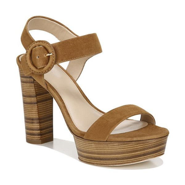 Via Spiga ira platform sandal in brown