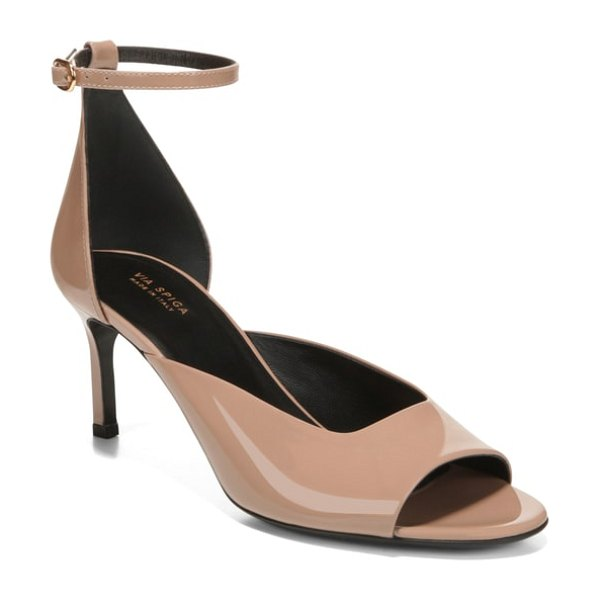 Via Spiga jennie ankle strap sandal in nude - A modern sandal updates the classic d'Orsay...