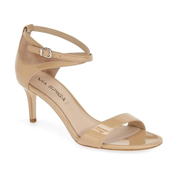 Via Spiga 'leesa' sandal in nude - Curved cutouts and crisscrossed ankle straps style an...