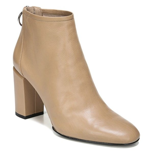 Via Spiga nadia bootie in desert leather - A circular zip pull adds to the mod aesthetic of an...