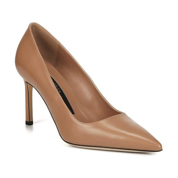 Via Spiga nikole pointy toe pump in desert leather - The classically elegant lines of a pointy-toe pump...