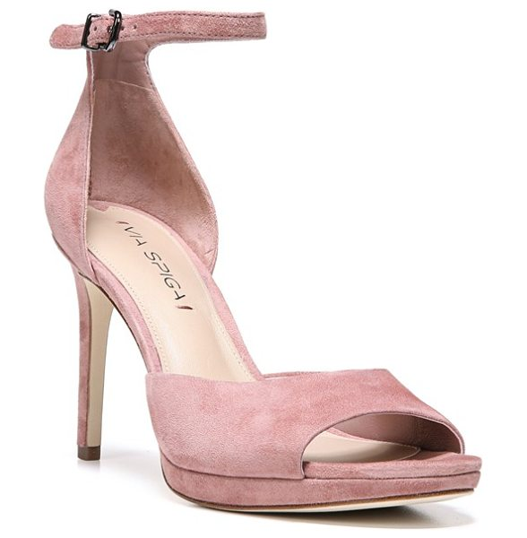 Via Spiga 'salina' sandal in dusty rose suede - Luxurious Italian leather furthers the sophisticated...