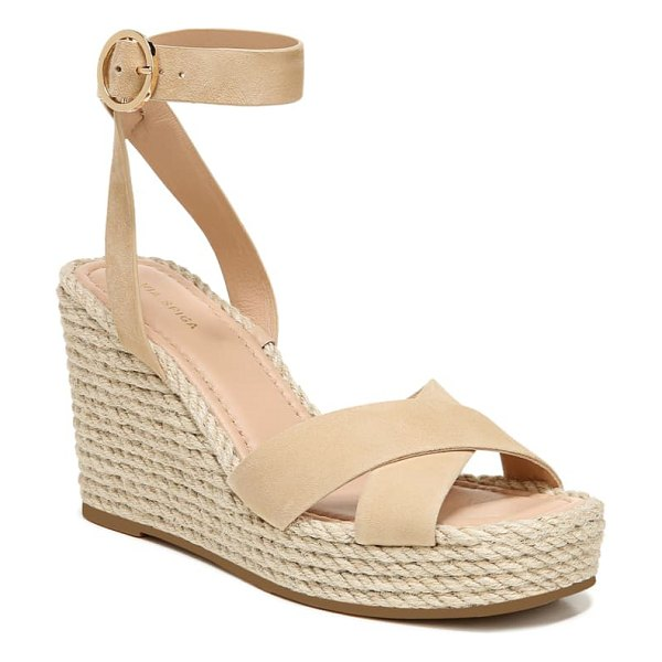 Via Spiga sesilia platform wedge sandal in beige