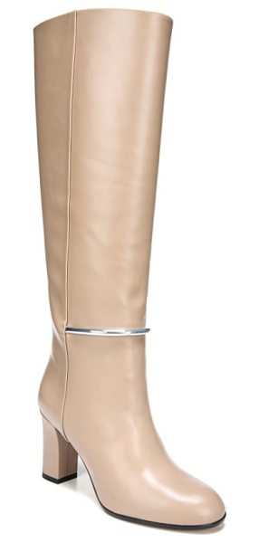 Via Spiga shaw knee high boot in desert leather - A gleaming bit arcs across the front of a knee-high boot...