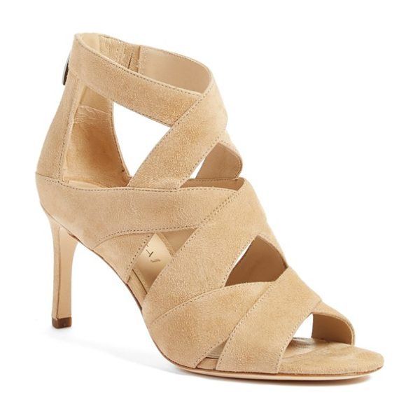 Via Spiga 'suri' strappy sandal in light camel - A sextet of Italian-suede, crisscrossing straps wrap the...