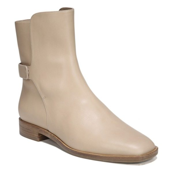 Via Spiga vaughan boot in desert leather - An easy-on split shaft is secured by a minimalist strap,...