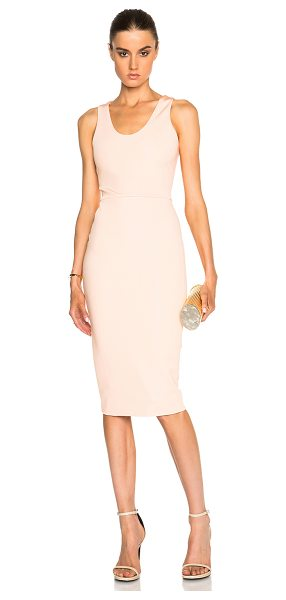 Victoria Beckham Dense rib tank fitted dress in orange - Self: 86% viscose 10% polyamide 4% elastan - Lining:...