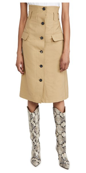 Victoria Beckham high waisted flare skirt in taupe