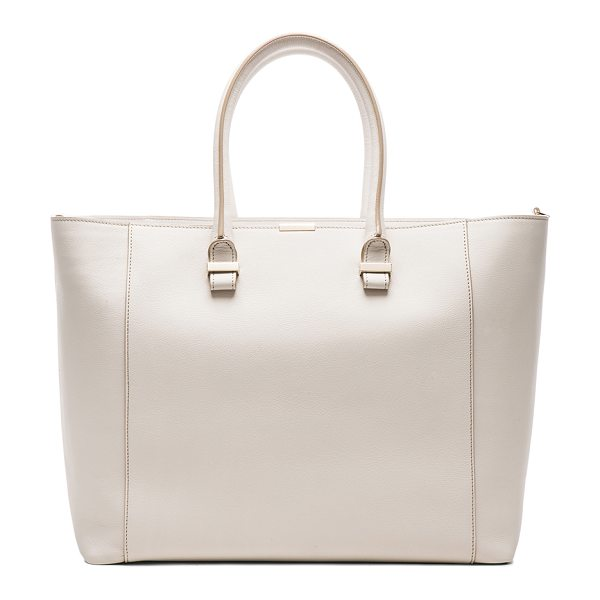 Victoria Beckham Liberty tote in neutrals - Buffalo and calfskin leather with canvas lining and pale...