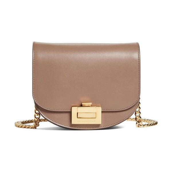 Victoria Beckham medium box leather shoulder bag in dove