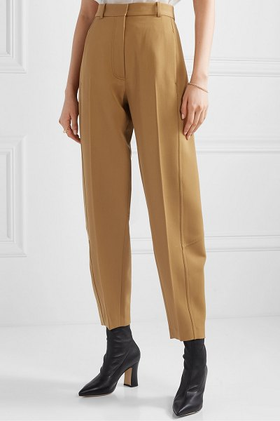 Victoria Beckham wool-twill tapered pants in tan