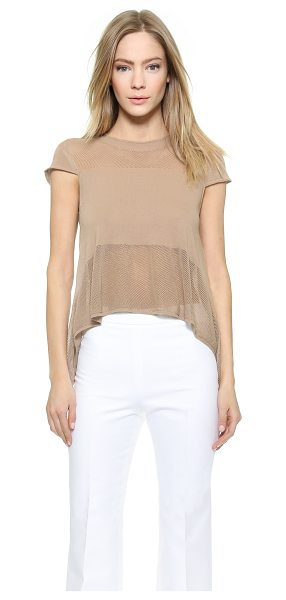 Viktor & Rolf Cap sleeve pointelle top in beige - This charming VIKTOR & ROLF top is detailed with...