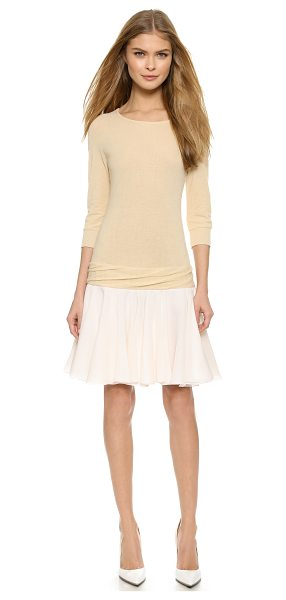 Viktor & Rolf Jersey dress in cream - A delicate, ballet inspired VIKTOR & ROLF dress with an...