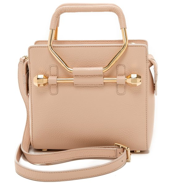Viktor & Rolf Mini bombette bag in nude - This petite, wrinkled leather VIKTOR & ROLF handbag is...