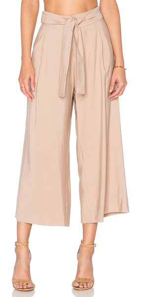 Viktoria + Woods Vargo Culotte in tan - 54% bamboo 27% viscose 19% poly. Hand wash cold. Front...