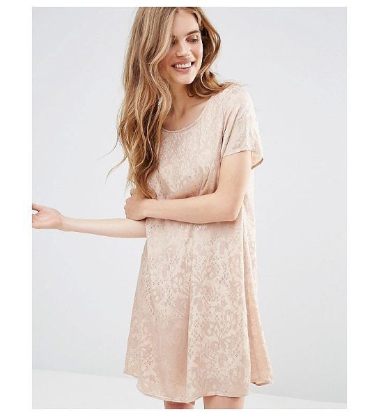"""VILA Burnt Out Shift Dress - """"""""Casual dress by Vila, Textured woven fabric, Round..."""