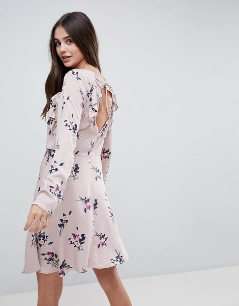 Vila floral midi dress with ruffles in rose - Dress by Vila, Floral print, Break out the blooms, Boat...
