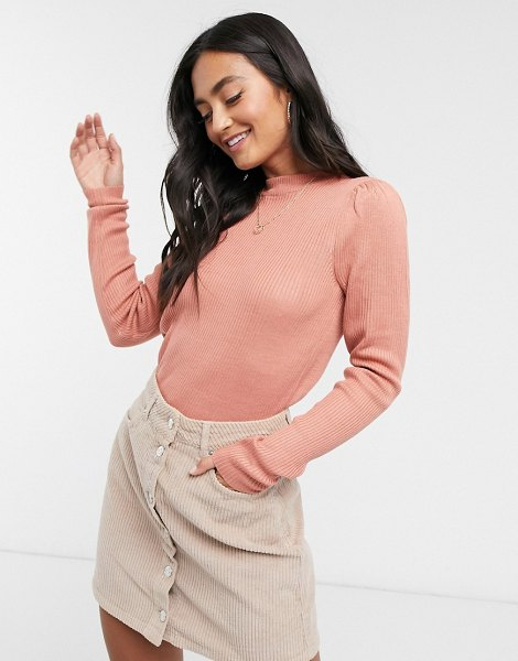 Vila knitted top in pink in pink