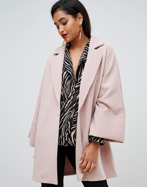Vila oversized coat with wide sleeves-pink in pink