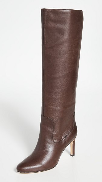 Villa Rouge flor knee high boots in brown