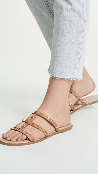 Villa Rouge sophie slide sandals in deep honey