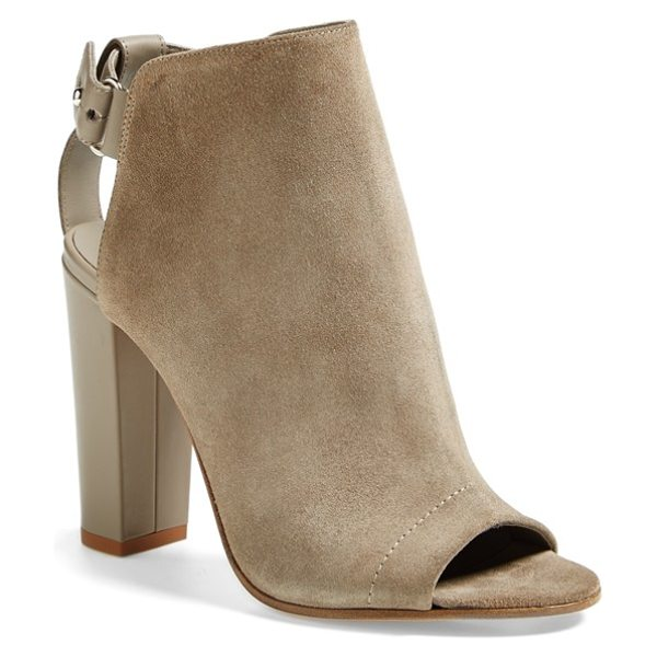 Vince addison boot in woodsmoke - Italian suede and leather in neutral hues create a tonal...