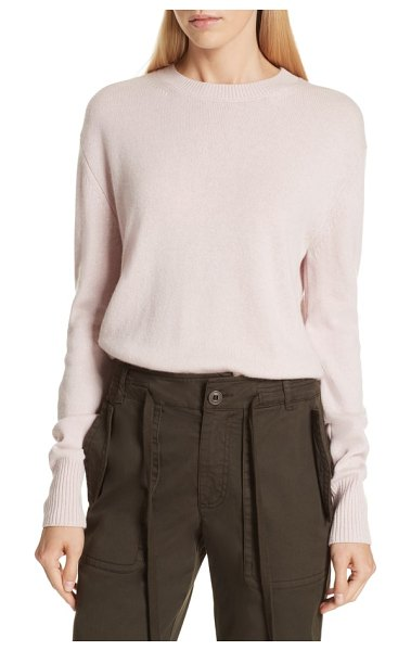 Vince asymmetrical cashmere sweater in cherry blossom - A layering-friendly pullover of cozy-luxe cashmere knit...