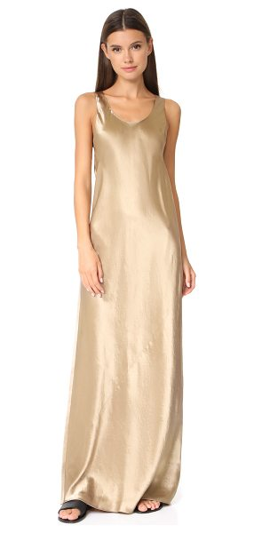 Vince bias maxi dress in camel - This lustrous Vince dress is cut on the bias for a...
