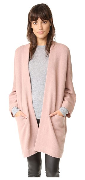 Vince Blanket cashmere sweater in rose hip - A loose Vince cardigan composed of soft cashmere and...