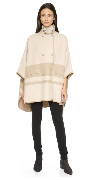 VINCE Blanket stripe cape - A double breasted Vince cape with an effortless drape....