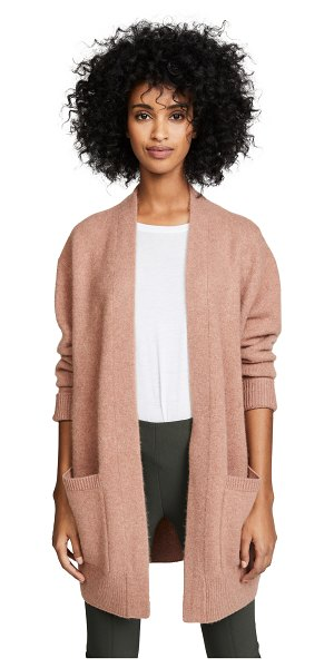 Vince boiled cashmere cardigan in heather vintage rose - Fabric: Knit Cardigan style Tunic length Long sleeves...