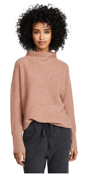 Vince boiled cashmere pullover sweater in heather vintage rose - Fabric: Brushed knit Ribbed trim Pullover style...