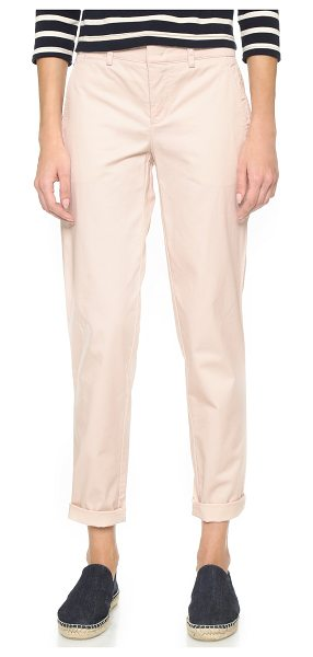 Vince Boyfriend trousers in new buff - Soft twill Vince chinos in a relaxed, boyfriend...