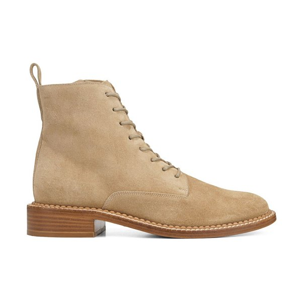 Vince cabria suede combat boots in sand