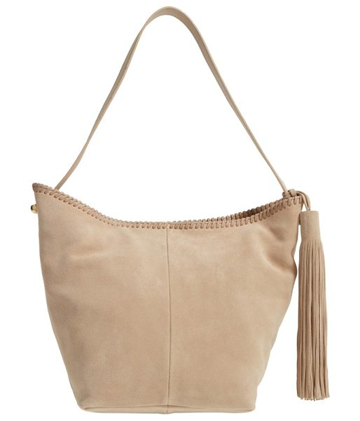 Vince Camuto aiko hobo bag in sandy - Tonal whipstitching and a swishy tassel detail a roomy...