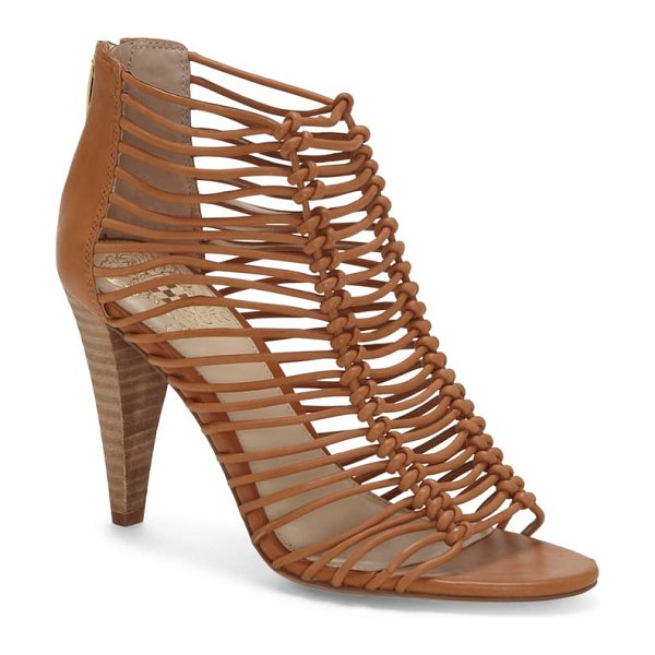 Vince Camuto alsandra strappy cage sandal in brown