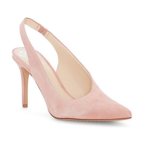 Vince Camuto ampereta pump in rose bud suede - A streamlined pump doubles down on timeless...