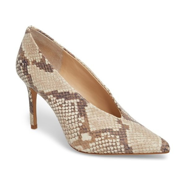 Vince Camuto ankia suede pump in desert sand - A V-shaped topline accentuates the streamlined...