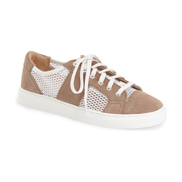 VINCE CAMUTO breya sneaker - Mesh panels add a cool, breathable touch to a suede...