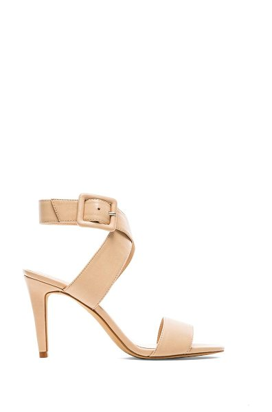 Vince Camuto Casara heel in beige - Leather upper with man made sole. Heel measures approx...