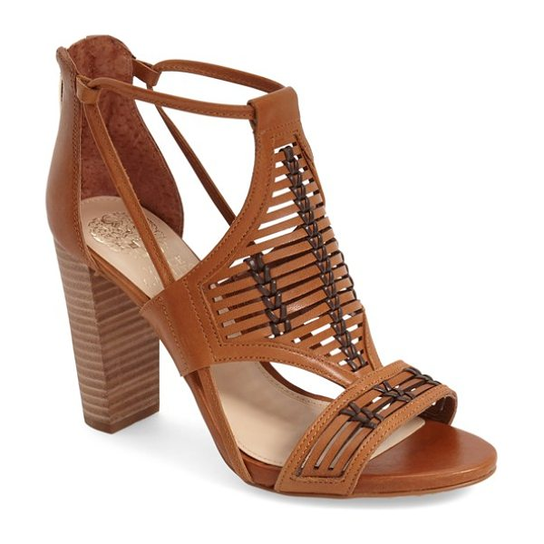 Vince Camuto ceara sandal in cognac leather