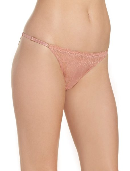 Vince Camuto colette string bikini in rose dawn - Sheer, chevron-patterned lace puts a modern twist on a...