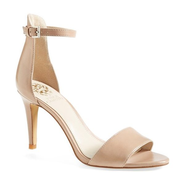 Vince Camuto court ankle strap sandal in beige - A slim ankle strap lends a dash of on-trend elegance to...